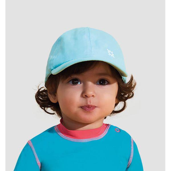 Boné Baby Colors com Proteção Solar UV.LINE Verde Água