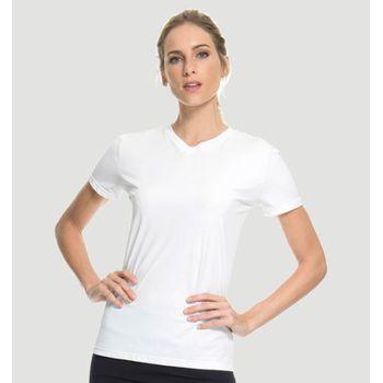 Camiseta com Proteção Solar Sport Fit Feminina UV.LINE - Branco
