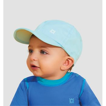 Boné com Proteção Solar Baby Colors UV.LINE - Azul Céu
