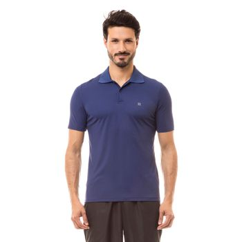Camiseta Polo com Proteção Solar UV.LINE - Marinho