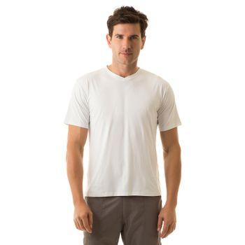 Camiseta com Proteção Solar Sport Fit Masculina UV.LINE - Branco