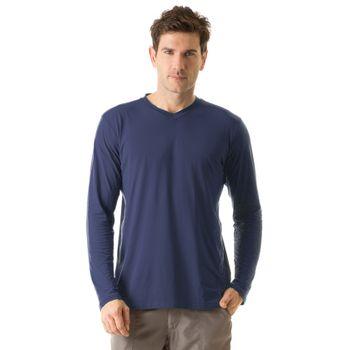 Camiseta com Proteção Solar Sport Fit Masculina UV.LINE - Marinho