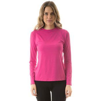Camiseta com Proteção Solar Uvpro Feminina UV.LINE - Pink