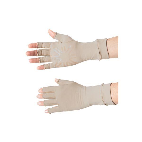 Luva Média Dedos Longos Com Proteção Solar UV.LINE Chocolate