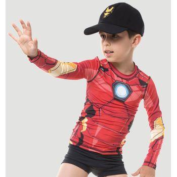 Camiseta com Proteção Solar Acqua Homem de Ferro