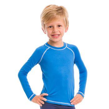 Camiseta com Proteção Solar Colors - Azul Malibu