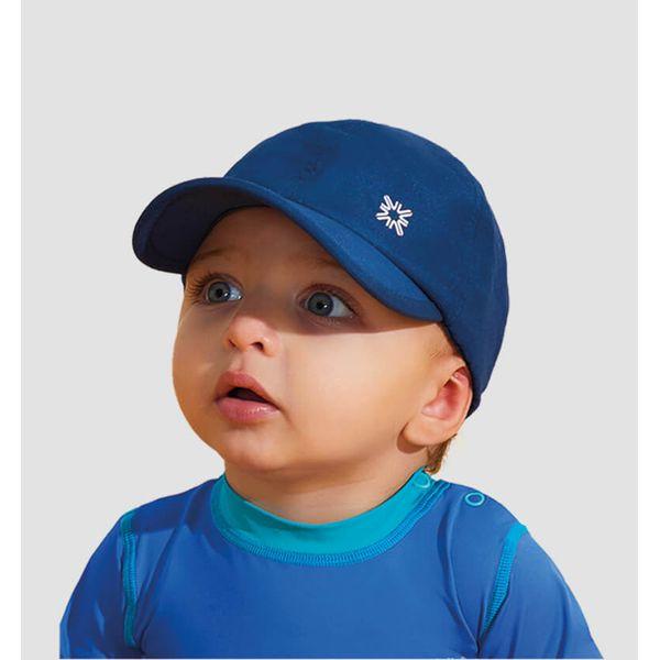 Boné com Proteção Solar UV.LINE - Baby  Colors - Marinho