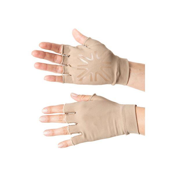 Luva Curta Com Proteção Solar UV.LINE Chocolate