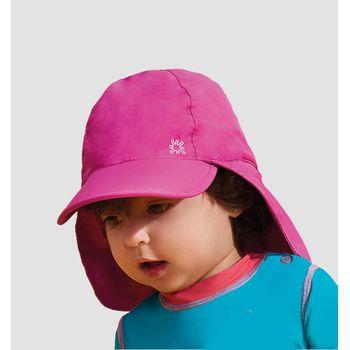 Boné Legionário Infantil com Proteção Solar UV.LINE Rosa Shock