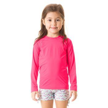 Camiseta com Proteção Solar Uvpro Infantil UV.LINE - Pink