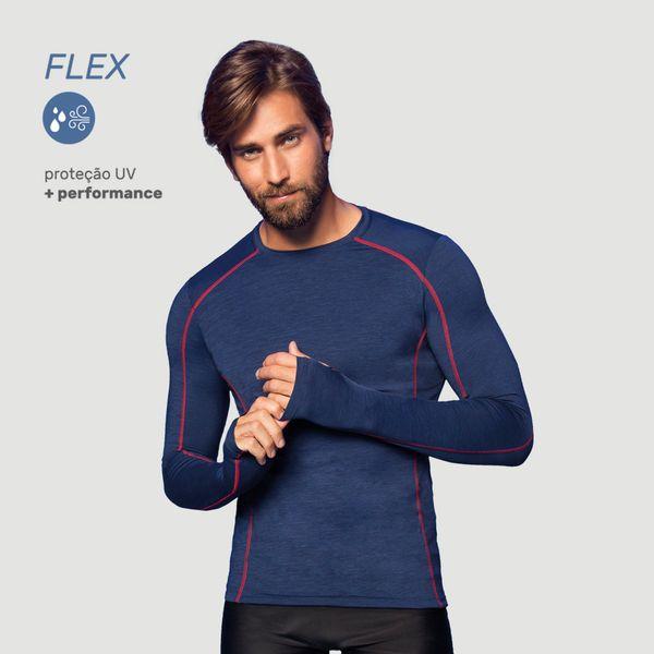 Camiseta com Proteção Solar UV.LINE - Flex - Marinho