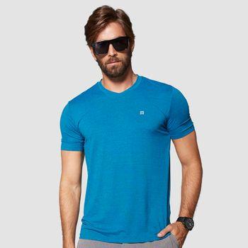 Camiseta com Proteção Solar Sport Fit Mescla UV.LINE - Azul