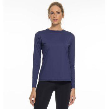 Camiseta UV com Proteção Solar Uvpro Feminina UV.LINE - Marinho