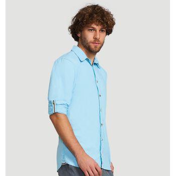 Camisa UV com Proteção Solar Georgia UV.LINE - Azul Claro