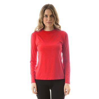 Camiseta com Proteção Solar Uvpro Feminina UV.LINE - Vermelho