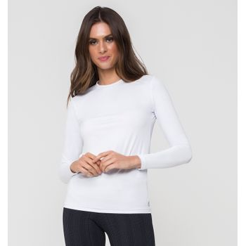 Camiseta UV com Proteção Solar Uvpro Feminina UV.LINE - Branco