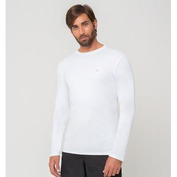 Camiseta UV com Proteção Solar Uvpro Masculina UV.LINE - Branco