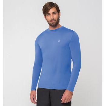 Camiseta UV com Proteção Solar Uvpro Masculina UV.LINE - Azul Bic