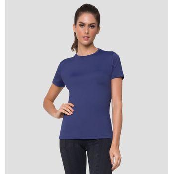 Camiseta com Proteção Solar Uvpro Feminina UV.LINE - Marinho