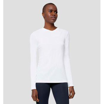 Camiseta com Proteção Solar Sport Fit Feminina - Branco