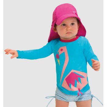Camiseta UV Baby com Proteção Solar Flamingo UV.LINE
