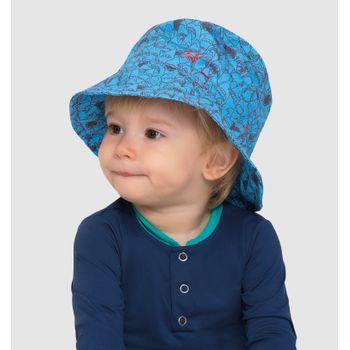 Chapéu de bebê com Proteção Solar UV.LINE Napoli Estampa Dino