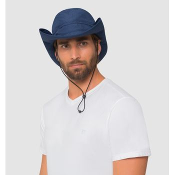 Chapéu com Proteção Solar Safari Masculino UV.LINE - Marinho