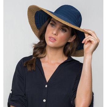 Sardenha Chapéu Com Proteção Solar UV.LINE Marinho