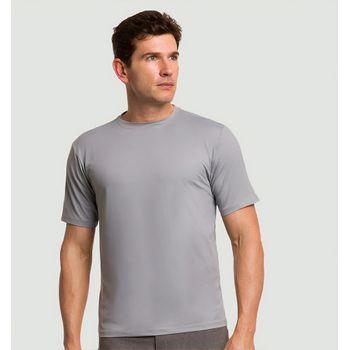Camiseta com Proteção Solar Uvpro Masculina UV.LINE - Cinza