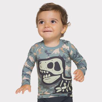Camiseta UV Baby UV com Proteção Solar Dino UV.LINE