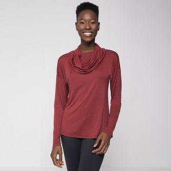 Blusa com Gola Alta UV com Proteção Solar Comfort UV.LINE -Vermelho