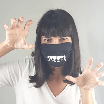 Máscara de Tecido para Proteção com Ajuste Vampiro UV.LINE
