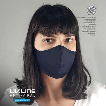 Máscara com Ajuste Antiviral UV.LINE - Preto