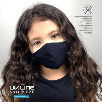 Máscara com Ajuste Antiviral Infantil  UV.LINE - Preto