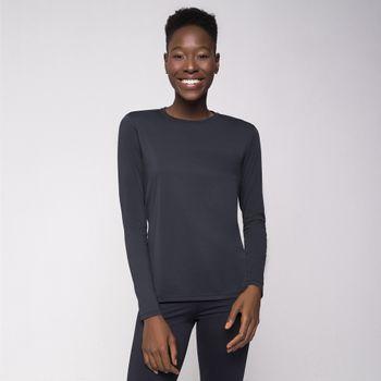 Camiseta UV com Proteção Solar Uvpro Feminina UV.LINE - Preto