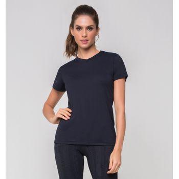 Camiseta com Proteção Solar Sport Fit Feminina UV.LINE - Preto