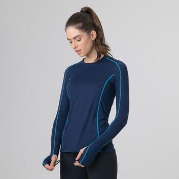 Camiseta UV com Proteção Solar Flex Feminina - Marinho