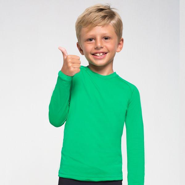 Camiseta UVPRO Infantil com Proteção Solar UV.LINE Verde Folha