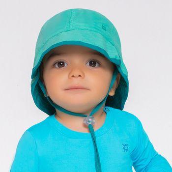 Chapéu UV com Proteção Solar Baby UV.LINE - Verde Mar