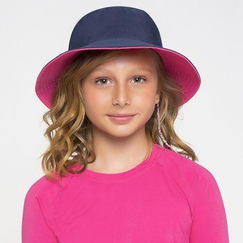 Chapéu UV com Proteção Solar Califórnia Infantil UV.LINE - Marinho e Pink