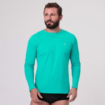 Camiseta com Proteção Solar UV.LINE - Energy Plus - Azul Piscina
