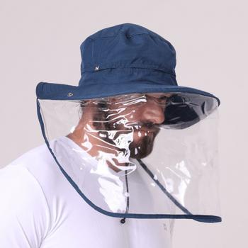 Chapéu UV com Proteção Solar e Plástica Safari  UV.LINE - Marinho