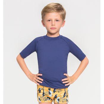 Camiseta com Proteção Solar Uvpro Infantil UV.LINE - Marinho
