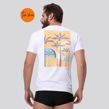 Camiseta com Proteção Solar UV TOM INDONÉSIA VIBES UV.LINE