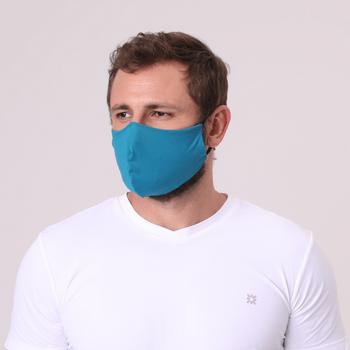 Máscara para Proteção Poliamida UV.LINE - Azul Petróleo