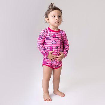 Maiô Baby com Proteção Solar UV  UV.LINE - Rosa