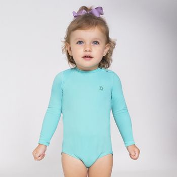Maiô Baby com Proteção Solar  UV UV.LINE - Azul Céu