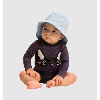 Camiseta Baby com Proteção Solar UV Dog UV.LINE - Chumbo