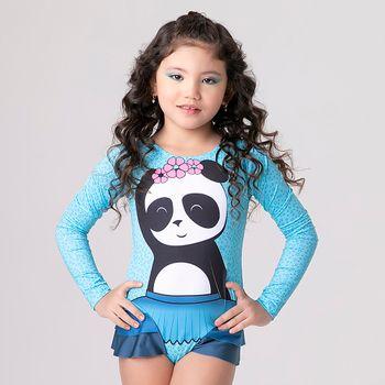 Maiô com Proteção Solar UV Panda UV.LINE