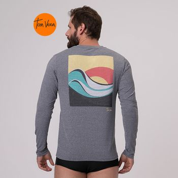 Camiseta com Proteção Solar UV TOM VEIGA Ipanema UV.LINE